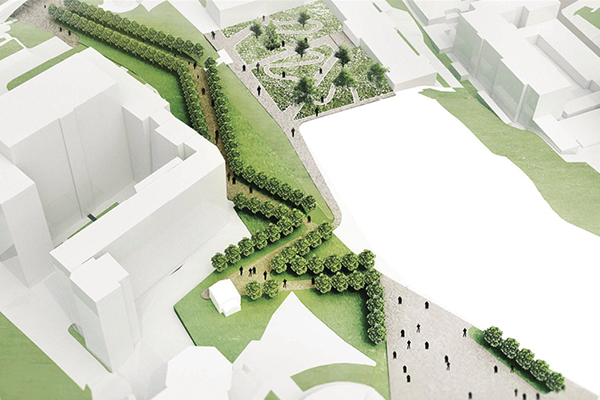 Криволінійний шлях пішої алеї відображатиме шлях України до свободи, стверджують архітекторки